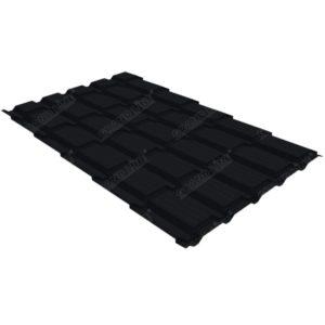 Металлочерепица квадро GL 0,5 Drap RAL 9005 черный