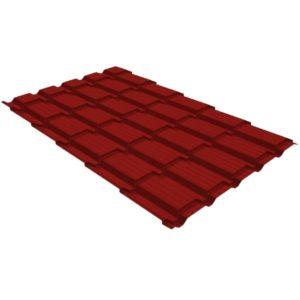 Металлочерепица квадро GL 0,5 PE RAL 3011 коричнево-красный