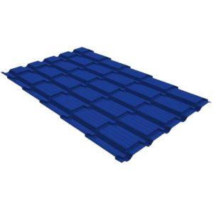 Металлочерепица квадро GL 0,5 PE RAL 5002 ультрамариново-синий