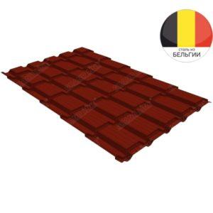 Металлочерепица квадро GL 0,5 Quarzit lite RAL 3009 оксидно-красный