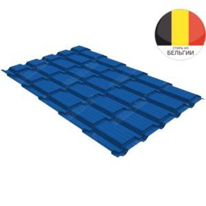 Металлочерепица квадро GL 0,5 Velur20 RAL 5005 сигнальный синий