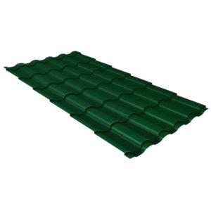Металлочерепица кредо GL 0,5 Polydexter RAL 6005 зеленый мох