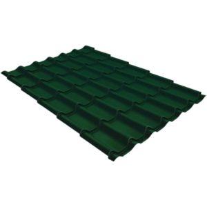 Металлочерепица модерн 0,4 PE с пленкой RAL 6005 зеленый мох