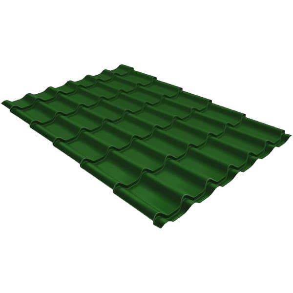 Металлочерепица модерн 0,45 PE с пленкой RAL 6002 лиственно-зеленый