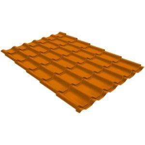 Металлочерепица модерн 0,45 PE RAL 2004 оранжевый