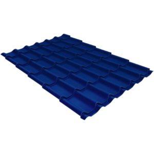 Металлочерепица модерн 0,45 PE RAL 5005 сигнальный синий