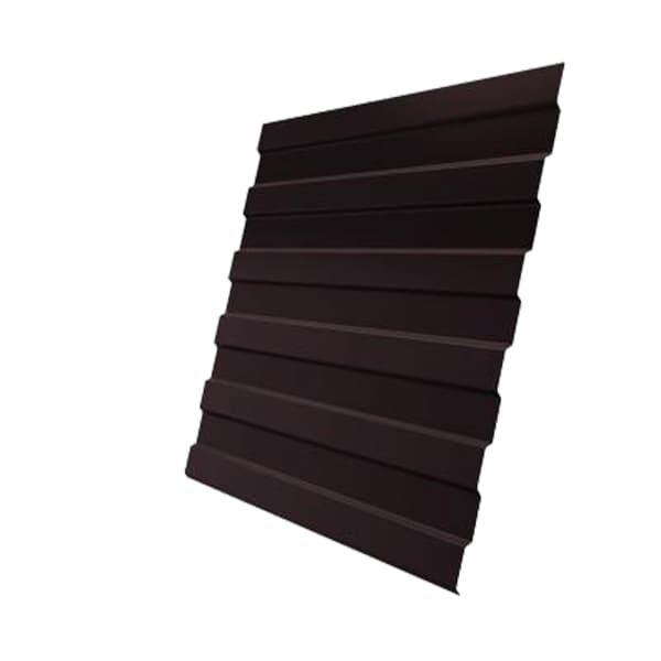 Профнастил С8А 0,45 PE с пленкой RAL 8017 шоколад