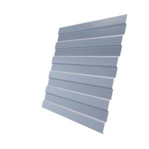 Профнастил С8А 0,45 PE RAL 9006 бело-алюминиевый