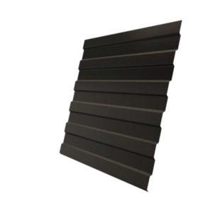 Профнастил С8А 0,5 Satin с пленкой RR 32 темно-коричневый