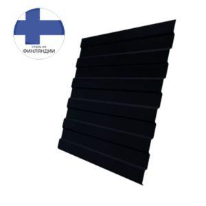 Профнастил С8А GL 0,5 GreenCoat Pural Matt RR 33 черный (RAL 9005 черный)