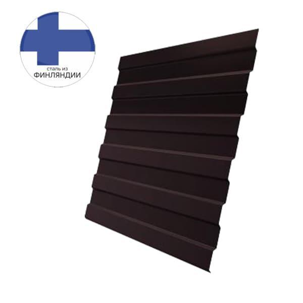 Профнастил С8А GL 0,5 GreenCoat Pural RR 887 шоколадно-коричневый (RAL 8017 шоколад)