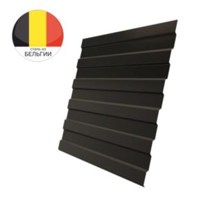 Профнастил С8А GL 0,5 Quarzit RR 32 темно-коричневый