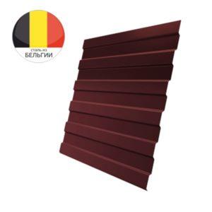 Профнастил С8А GL 0,5 Velur20 с пленкой RAL 3009 оксидно-красный