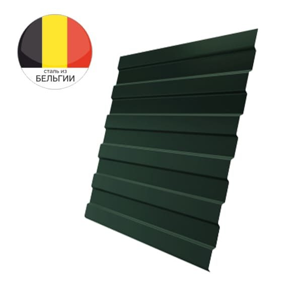 Профнастил С8А GL 0,5 Velur20 с пленкой RAL 6020 хромовая зелень