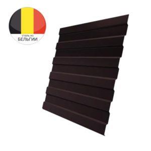 Профнастил С8А GL 0,5 Velur20 с пленкой RAL 8017 шоколад
