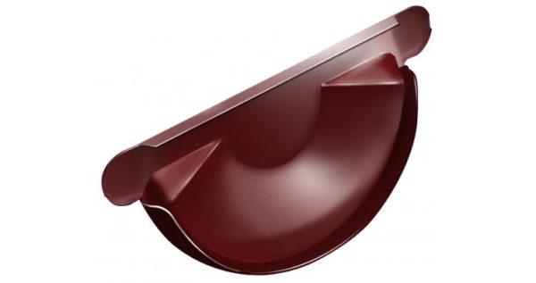 Заглушка торцевая универсальная 125 мм RAL 3011 коричнево-красный