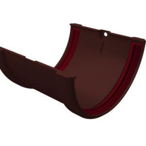 Соединитель желобов ПВХ Grand Line шоколадный (RAL 8017)