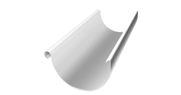 Желоб полукруглый 125 мм 3 м RAL 9003 сигнальный белый