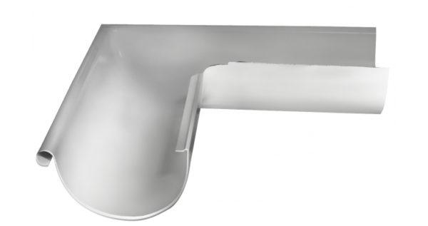 Угол желоба внешний 90 гр 125 мм RAL 9003 сигнальный белый