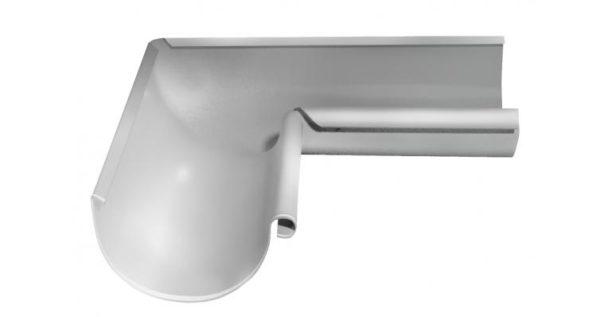Угол желоба внутренний 90 гр 125 мм RAL 9003 сигнальный белый
