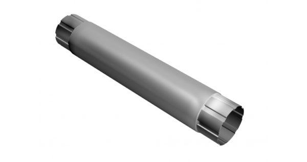 Труба круглая соединительная 90мм 1м RAL 9003 сигнальный белый