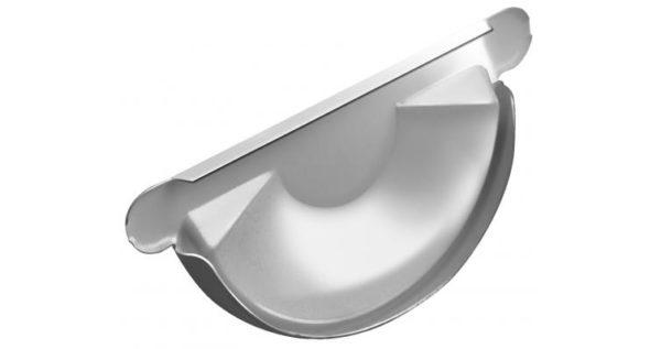 Заглушка торцевая универсальная 125 мм RAL 9003 сигнальный белый
