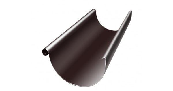 Желоб полукруглый 125 мм 3 м RAL 8017 шоколад