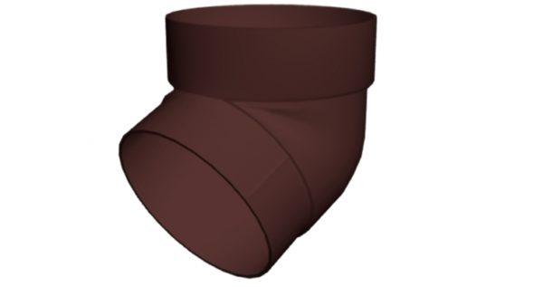 Колено трубы 67 град. ПВХ Grand Line шоколадное (RAL 8017)