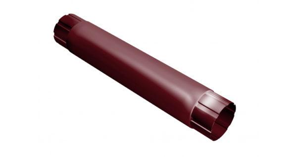 Труба круглая соединительная 90мм 1м RAL 3005 красное вино