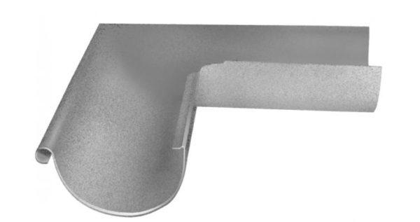 Угол желоба внешний 90 гр 125 мм Al-Zn
