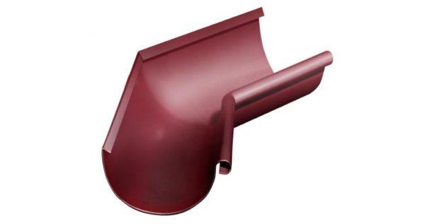 Угол желоба внутренний 135 гр 125 мм RAL 3005 красное вино