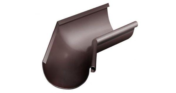 Угол желоба внутренний 135 гр 125 мм RAL 8017 шоколад