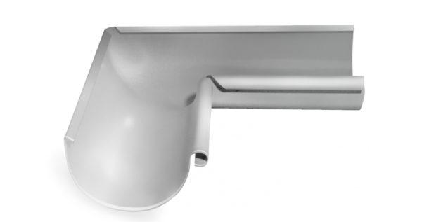 Угол желоба внутренний 90 гр 150 мм RAL 9003 сигнальный белый