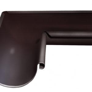 Угол желоба внутренний 90 гр 150 мм RAL 8017 шоколад
