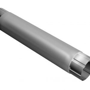 Труба круглая соединительная 100 мм 1 м RAL 9003 сигнальный белый