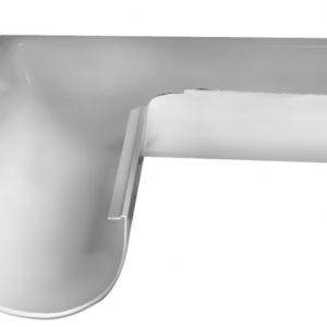 Угол желоба внешний 90 гр 150 мм RAL 9003 сигнальный белый