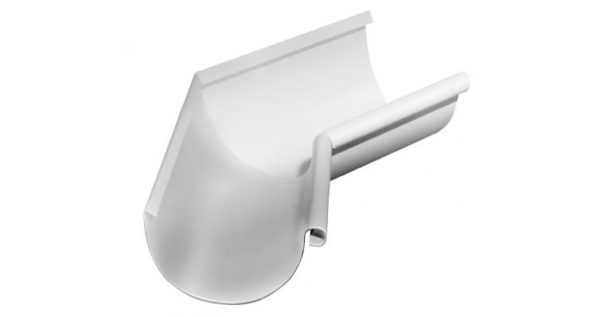 Угол желоба внутренний 135 гр 150 мм RAL 9003 сигнальный белый