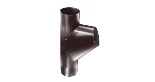 Тройник трубы,100 мм RAL 8017 шоколад