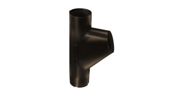 Тройник трубы,100 мм RR 32 темно-коричневый