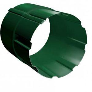 Соединитель трубы 90 мм RAL 6005 зеленый мох