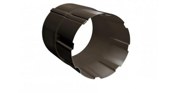 Соединитель трубы 100 мм RR 32 темно-коричневый