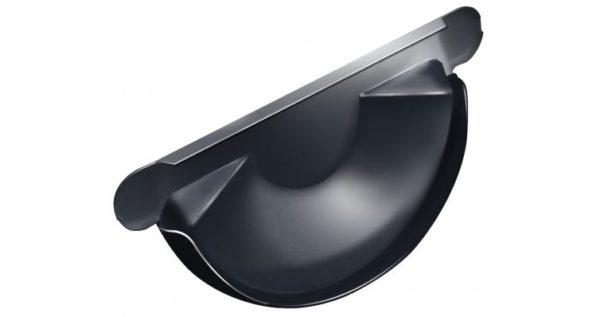 Заглушка торцевая универсальная 125 мм RAL 7024 мокрый асфальт