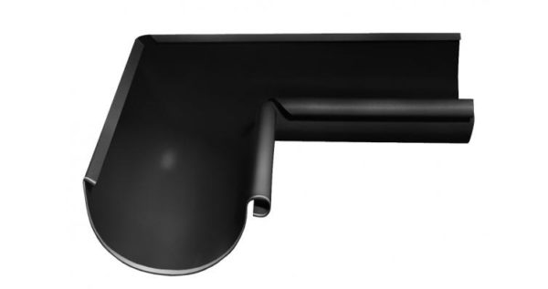 Угол желоба внутренний 90 гр 125 мм RAL 9005 черный