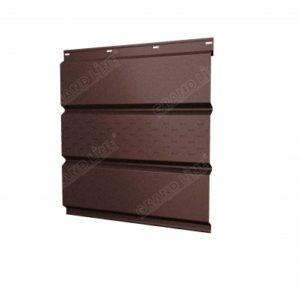 Софит металлический центральная перфорация 0,5 Velur20 с пленкой RAL 8017 шоколад