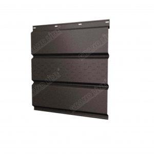Софит металлический центральная перфорация 0,45 Drap с пленкой RR 32 темно-коричневый