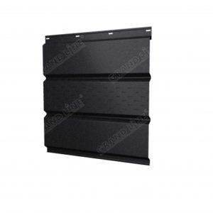 Софит металлический центральная перфорация 0,45 Drap с пленкой RAL 9005 черный