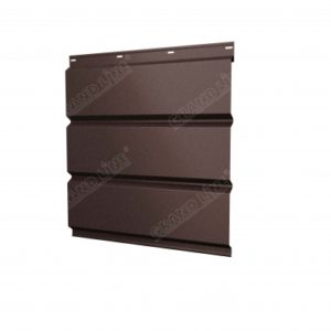 Софит металлический без перфорации 0,5 Quarzit lite с пленкой RAL 8017 шоколад