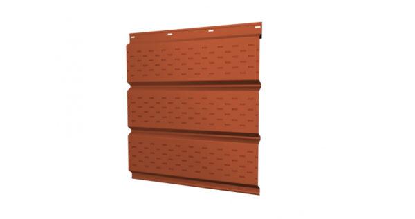 Софит металлический полная перфорация 0,45 PE с пленкой RAL 2004 оранжевый
