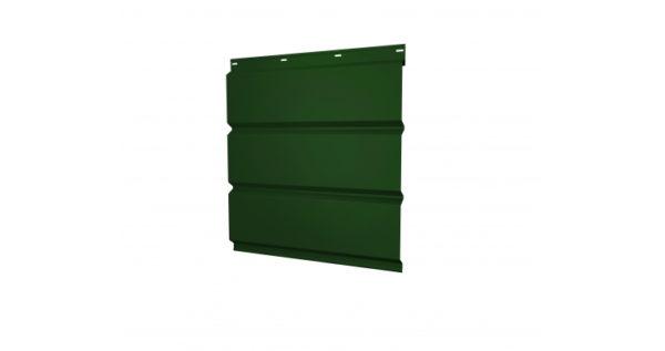 Софит металлический без перфорации 0,5 Satin с пленкой RAL 6005 зеленый мох