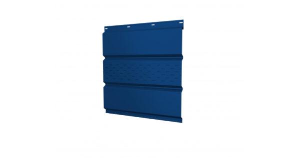 Софит металлический центральная перфорация 0,5 Satin с пленкой RAL 5005 сигнальный синий